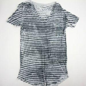 Joe's Women's TShirt Blouse Size M Gray Stripe